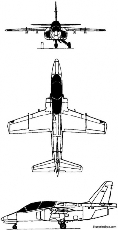 siai marchetti s211 1981 italy model airplane plan