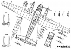 siebel si 204 3 model airplane plan
