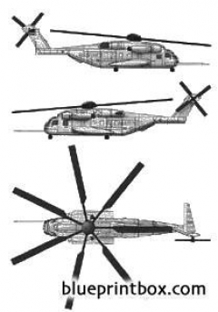 sikorski ch 53e sea stalion model airplane plan