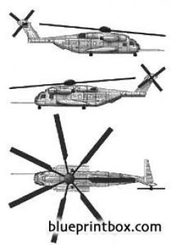sikorski ch 53e sea stalion model airplane plan