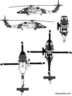 sikorsky hh 60j jayhawk 2 model airplane plan