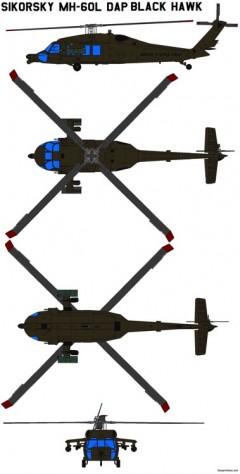 sikorsky mh 60l dap black hawk model airplane plan