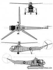 sikorsky r 4 4 model airplane plan