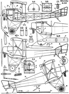 sikorsky s16 1 3v model airplane plan