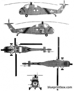 sikorsky s 58 uh 34d choctaw model airplane plan