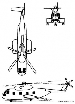 sikorsky s 61r ch 3 model airplane plan