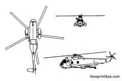 sikorsky sh 3 sea king 02 model airplane plan