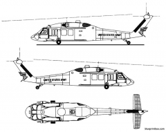 sikorsky uh 60a model airplane plan