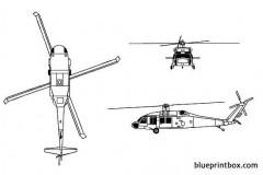sikorsky uh 60a blackhawk model airplane plan