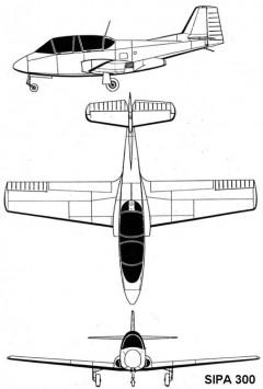 sipa300 3v model airplane plan