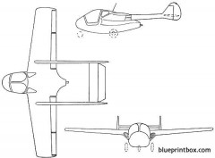 sipa s200 minijet 1952 france model airplane plan