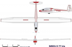 siren d77 3vues model airplane plan