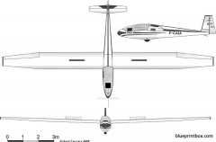 siren d 77 iris model airplane plan