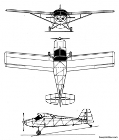 sisler sf 4cygnet model airplane plan