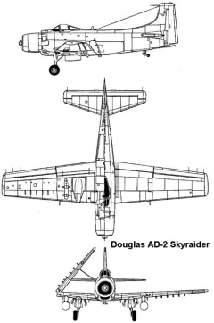 skyraider 3v model airplane plan