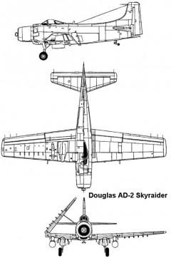 skyraider 3v model airplane plan