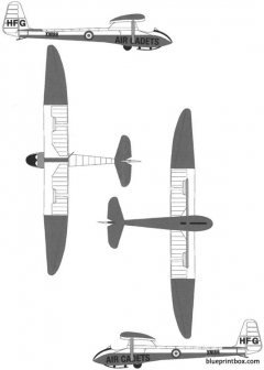slingsby t21 b sedbergh sailplane model airplane plan