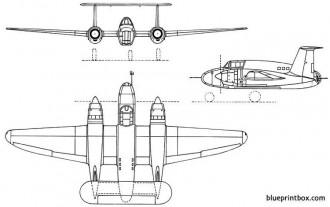 sncac nc1070 1947 france model airplane plan