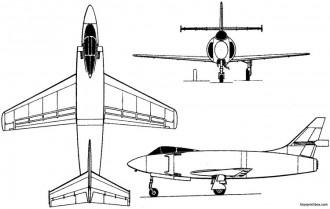 sncac nc1080 1949 france model airplane plan