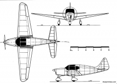 sncase se 2310 model airplane plan