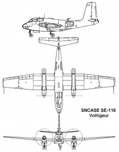 sncase voltigeur 3v model airplane plan