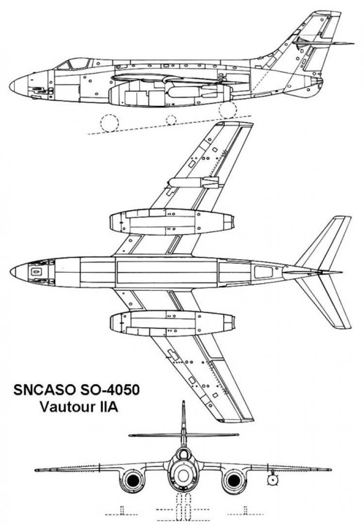 sncaso vautour2 3v model airplane plan