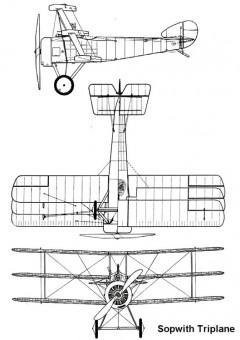 sopwith triplane 3v model airplane plan