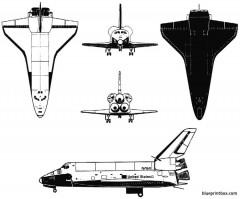 space shuttle 3 model airplane plan
