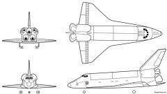 space shuttle 4 model airplane plan
