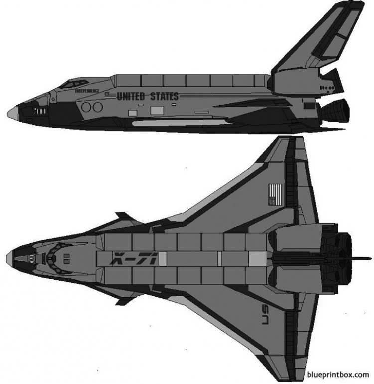 space shuttle x 71 independence model airplane plan