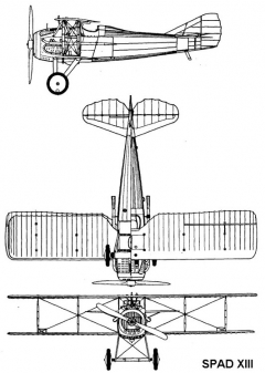 spad13 3v model airplane plan