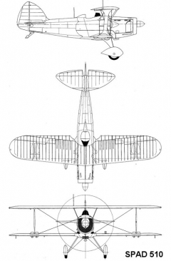 spad510 1 3v model airplane plan