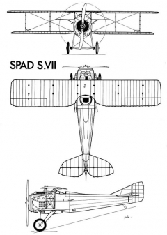 spad7 3v model airplane plan