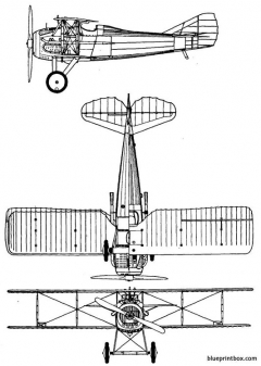 spad xiii 2 model airplane plan