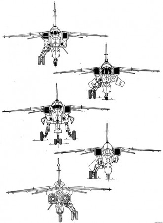 specat jaguar 2 16 model airplane plan
