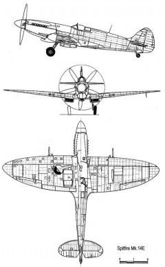 spit14e 3v model airplane plan