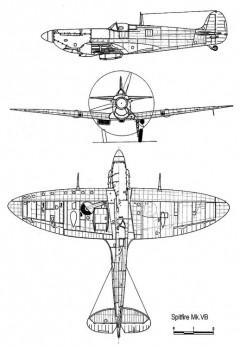 spit5b 3v model airplane plan