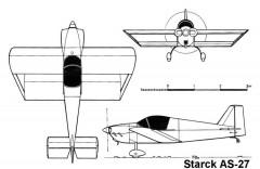 starck as27 3v model airplane plan