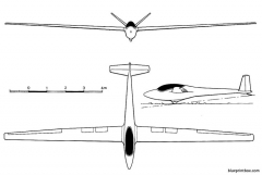 start und flug h 101 salto model airplane plan