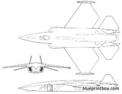 stealth fighter prototype raf model airplane plan