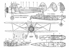 stearmanpt17 1 3v model airplane plan