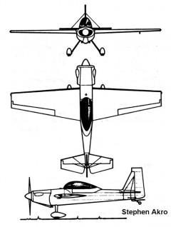 stephen akro 3v model airplane plan