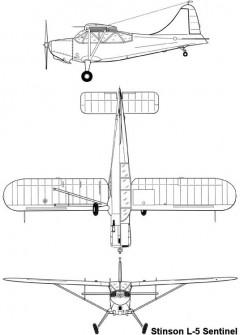 stinson l5 3v model airplane plan