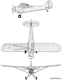 stinson l 1a vigilant model airplane plan