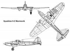 stormovik 3v model airplane plan