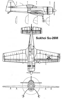su26m 3v model airplane plan