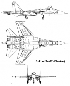 su27 1 3v model airplane plan