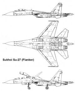 su27 2 3v model airplane plan