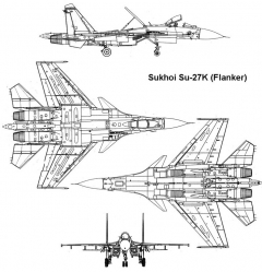 su27k 3v model airplane plan