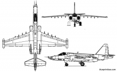 su 25 model airplane plan